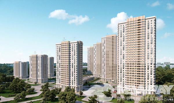 某高端住宅小区建筑全景动画-青岛新锐动画