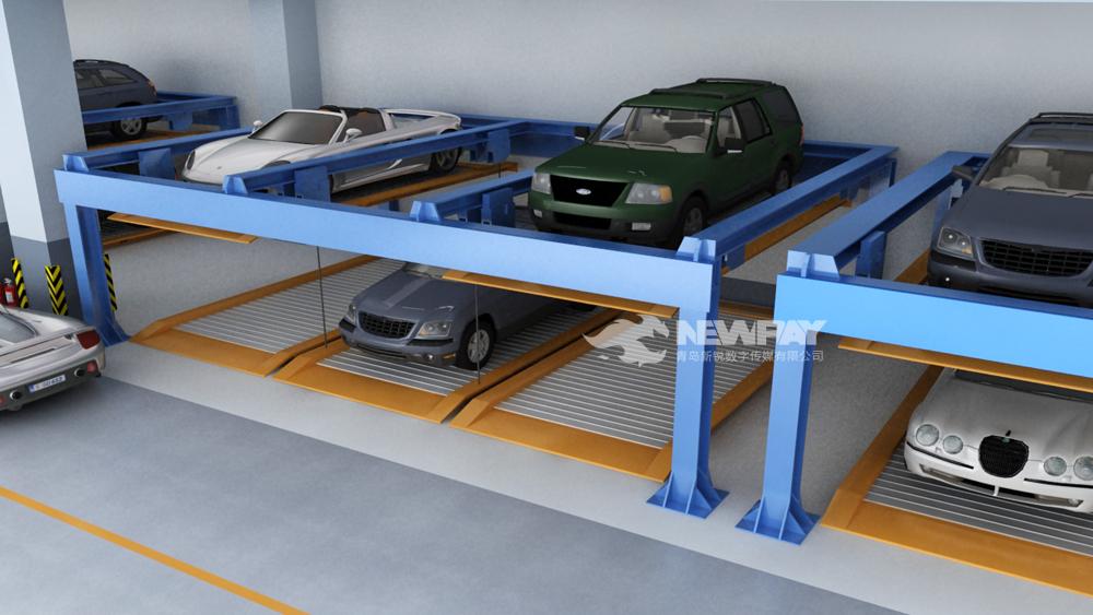 立体停车场三维动画