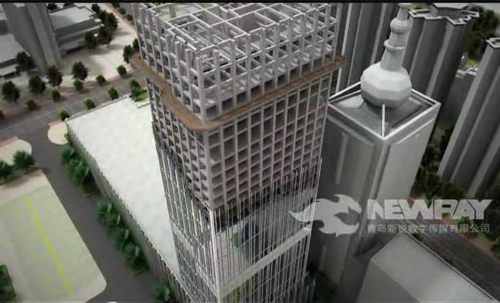 城市综合体三维宣传动画
